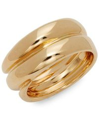 Roberto Coin - 18k Yellow Gold Double Band Ring - Lyst