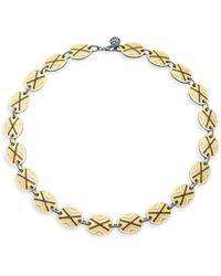 Freida Rothman - Cubic Zirconia Collared Necklace - Lyst