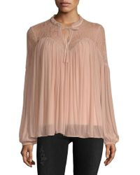 French Connection - Lassia Lace Blouse - Lyst