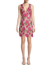 Dress the Population - Mina Floral Crochet Dress - Lyst