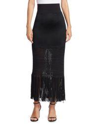 Galvan London - Vesper Jersey Fringed Skirt - Lyst