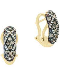 Effy - Final Call Brown Diamond & 14k White Gold Earrings - Lyst