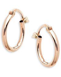 Saks Fifth Avenue - 14k Rose Gold Hoop Earrings - Lyst