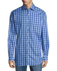 Peter Millar - Plaid Cotton Button-down Shirt - Lyst