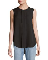 Vince Camuto - Pleated High-low Blouse - Lyst
