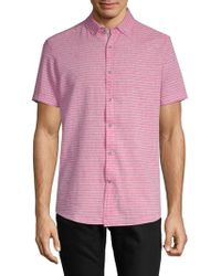 Report Collection - Striped Short-sleeve Button-down Shirt - Lyst