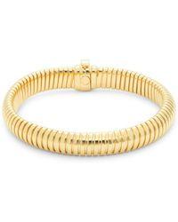 Saks Fifth Avenue - Single Tubogas 14k Yellow Gold Bracelet - Lyst