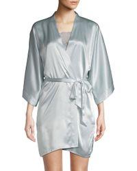Samantha Chang - Classic Silk Short Kimono Wrap - Lyst