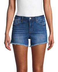 Joe's Jeans - Janessa Fringed Cutoff Denim Shorts - Lyst