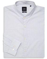 Strellson Striped Slim-fit Dress Shirt - Gray