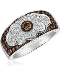 Le Vian - Chocolatier Deco Estate Diamond & 14k White Gold Ring - Lyst