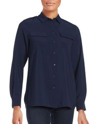 French Connection - Pippa Plains Long Sleeve Button-down Shirt - Lyst