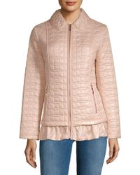 Kate Spade - Quilted Ruffle-hem Jacket - Lyst