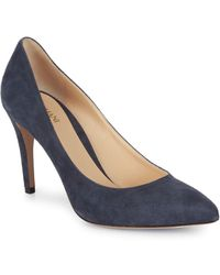 Armani - Suede Point Toe Court Shoes - Lyst