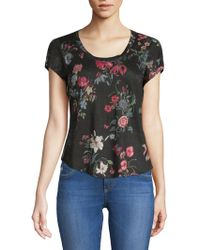 Rebecca Taylor - Meadow Floral Linen Top - Lyst