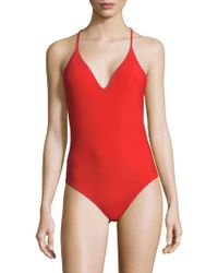 Red Carter - Strappy Swimsuit - Lyst