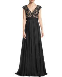 Jovani - Floral-lace Floor-length Gown - Lyst