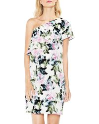 Vince Camuto - Glacier Floral Ruffled One-shoulder Dress - Lyst