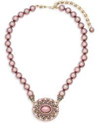 Heidi Daus - Oval Beaded Crystal Pendant Necklace - Lyst