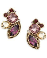 Heidi Daus - Garland Crystal & Rhinstone Geometric Earrings - Lyst