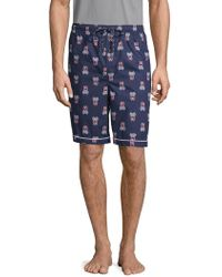 Psycho Bunny - Woven Jammie Cotton Lounge Shorts - Lyst