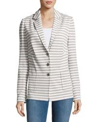 Basler | Striped Notch-lapel Jacket | Lyst