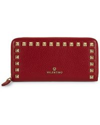 Valentino By Mario Valentino - Grace Studded Leather Wallet - Lyst