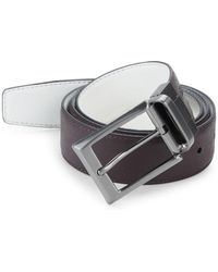 Saks Fifth Avenue - Two-toned Reversible Saffiano Leather Belt - Lyst