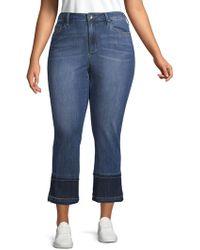 Max Studio - Plus Slim Straight Ankle Jeans - Lyst
