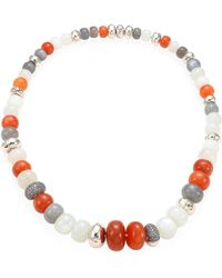 John Hardy - Bamboo Grey Diamond, Multicolor Moonstone & Sterling Silver Necklace - Lyst