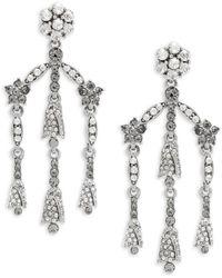 Oscar de la Renta - Crystal Chandelier Earrings - Lyst