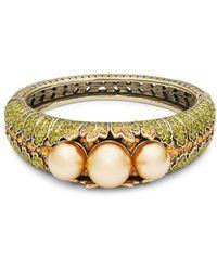 Heidi Daus | Gold Faux Pearl Bangle Bracelet | Lyst