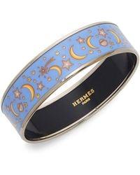 Hermès - Vintage Moon & Stars Goldtone Bangle Bracelet - Lyst