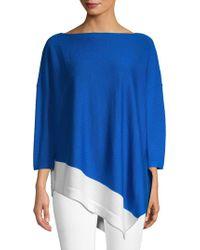 St. John - Asymmetrical Wool Jumper - Lyst