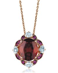 Le Vian - Crazy Collection Pomegranate Garnet, Sky Blue Topaz, Cotton Candy Amethyst & 14k Strawberry Gold Pendant Necklace - Lyst