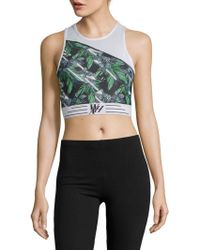 We Are Handsome - Printed Panelled Sports Bra - Lyst