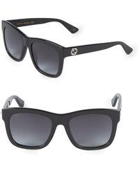 11e9ccd58e8 Lyst - Gucci Gg 1622 D28 Black Aviator Plastic Sunglasses in Black