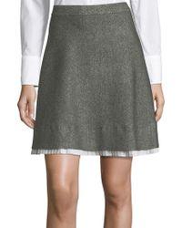 Saks Fifth Avenue - Marl A-line Skirt - Lyst