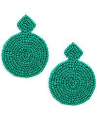 Kenneth Jay Lane - Circle Drop Bead Earrings - Lyst