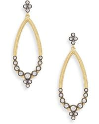 Freida Rothman - Open Teardrop Crystal Bezel Earrings - Lyst