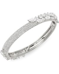 Adriana Orsini - Crystal Bangle Bracelet - Lyst