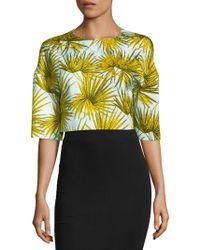 MSGM - Palm Leaf Print Top - Lyst