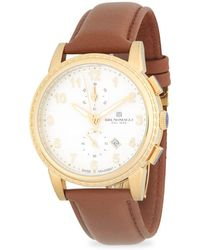 Bruno Magli - Round Chronograph Leather-strap Watch - Lyst