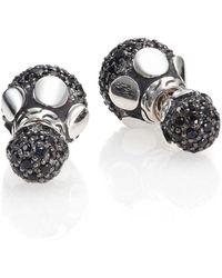John Hardy - Dot Black Sapphire & Sterling Silver Stud Earrings - Lyst