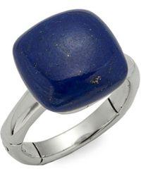 John Hardy - Bamboo Sterling Silver & Lapis Lazuli Ring - Lyst