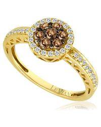 Le Vian - 14k Honey Gold Chocolate Diamonds & Vanilla Diamonds Pavé Circle Ring - Lyst
