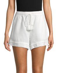 Saks Fifth Avenue - Smocked Raw-edge Shorts - Lyst