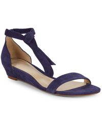 Alexandre Birman - Clarita Suede Demi Wedge Sandals - Lyst