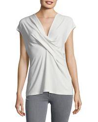 Donna Karan - V-neck Wrap Top - Lyst
