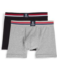 Psycho Bunny - Stretch-cotton Trunks - Two Pack - Lyst